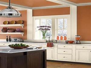 kitchen nice orange kitchen color schemes with wood With what kind of paint to use on kitchen cabinets for design your own wall art quote