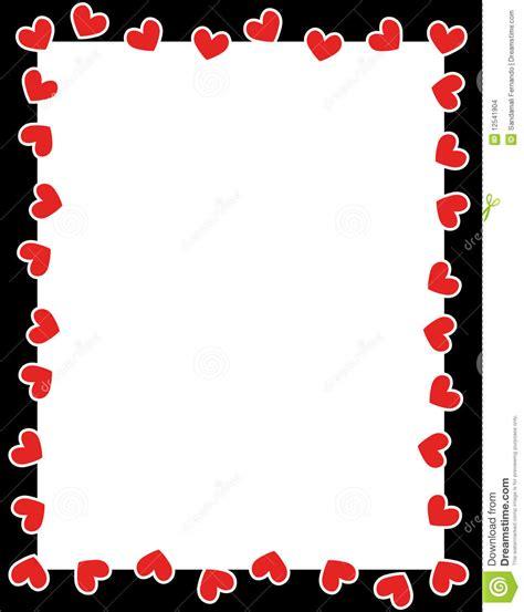 jour de carence cadre cadre du jour de de coeurs images stock image 12541904