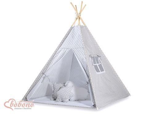 tapis chambre bebe tipi teepee pour enfant avec textile gris à pois