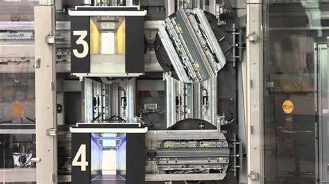 multi elevator  thyssenkrupp scale model youtube