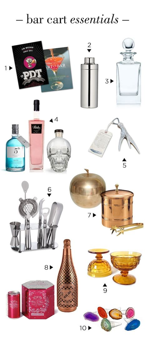 Bar Essentials by 10 Bar Cart Essentials Theglitterguide