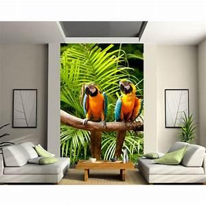 Papier Peint Geant : papier peint g ant perroquets art d co stickers ~ Premium-room.com Idées de Décoration