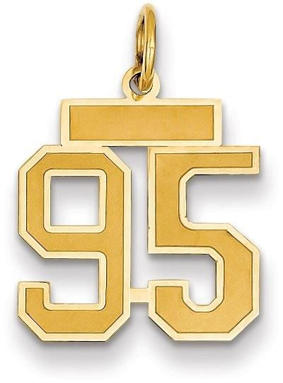yellow gold small satin number  charm