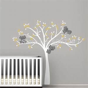 large size bear tree wall sticker for kids koala With pochoir mural a peindre