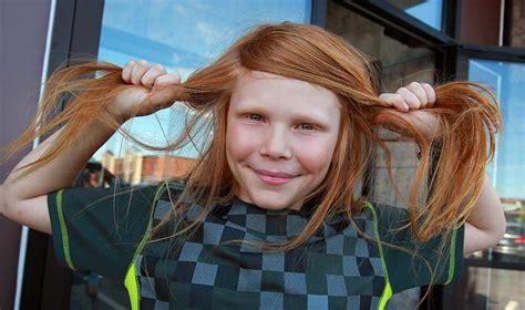 losing  mother  year  boy  long hair cut