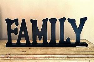 shelves wood letters and signs on pinterest With family letter sign