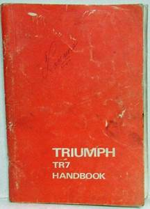 1977 Triumph Tr7 Owners Manual Handbook With Wiring