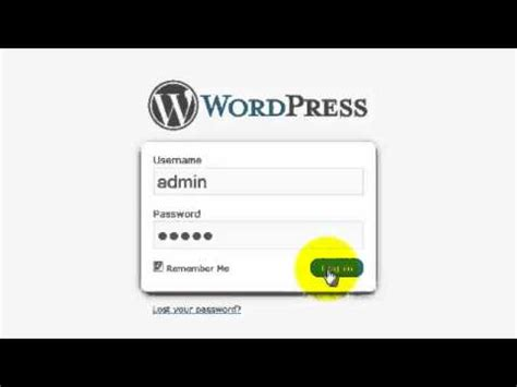 How To Log Into The Wordpress Admin Control Panel (qs 7