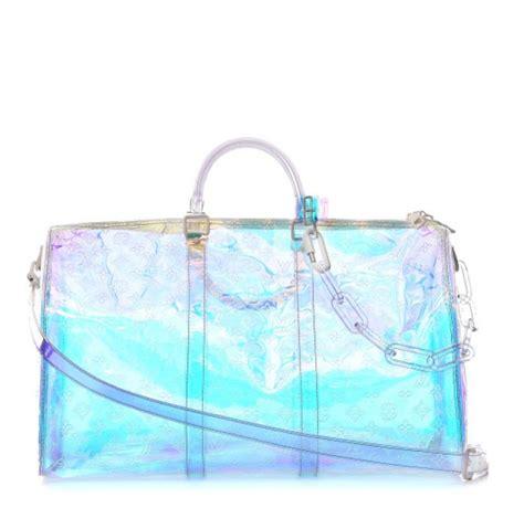 louis vuitton keepall prism iridescent bandouliere pvc weekendtravel bag tradesy
