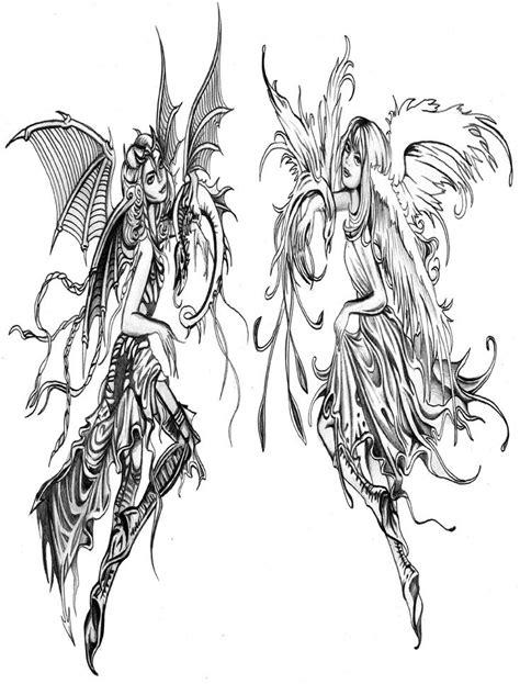 Good vs. Evil | Evil tattoos, Fairy tattoo designs, Good, evil tattoos