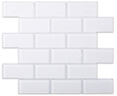 4x8 Subway Tile Home Depot by Bright White Glass 4x8 Inch Subway Tile 8mm