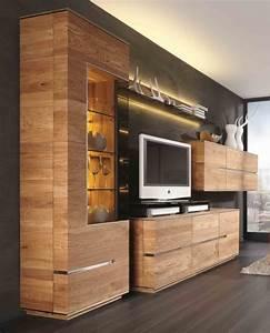 Wohnzimmer Wand Holz : wohnzimmerwand wohnwand wohnzimmer asteiche eiche massiv ~ Lizthompson.info Haus und Dekorationen