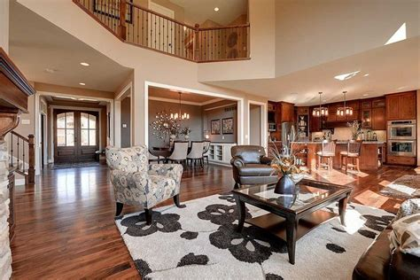 plan hs craftsman beauty   story great room   great rooms luxury house plans