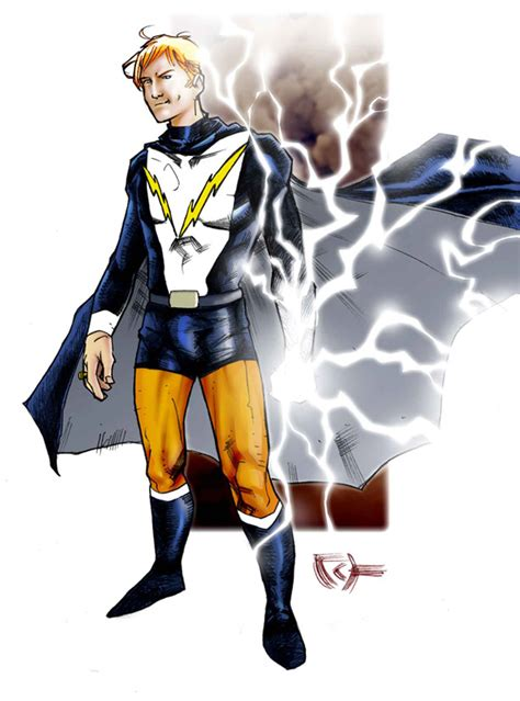 lightning lad in colour by johjames on