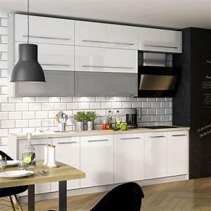 Küche Weiß Hochglanz : k chenzeile k che 240cm grau wei hochglanz neu kaufen ~ Watch28wear.com Haus und Dekorationen