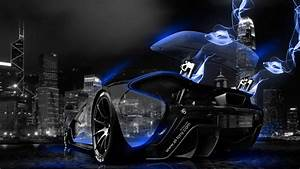 McLaren P1 blue | McLaren-P1-Blue-Neon-Energy-Crystal-City ...