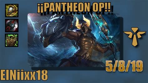 esto esta muy roto pantheon support league  legends soloduo ranked youtube
