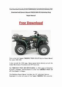 Yamaha 92 98 Timberwolf 2x4 Service Manual Pdf Download