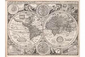 Carte Du Monde Noir : carte du monde en 1651 ~ Teatrodelosmanantiales.com Idées de Décoration