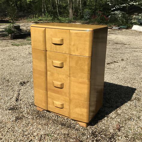 1950s mid century vintage modern heywood wakefield maple tallboy high dresser deco
