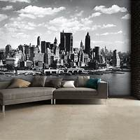 excellent city wall mural Black and White New York City Skyline Wall Mural | 315cm x ...