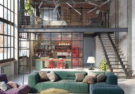 Modern Living Room Ideas Pinterest - industrial loft by golovach tatiana andrey kot design