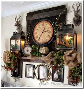 Fireplace Mantel Decorating with Lanterns