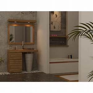 meuble salle de bain en teck timare a simple vasque With meuble salle de bain simple vasque