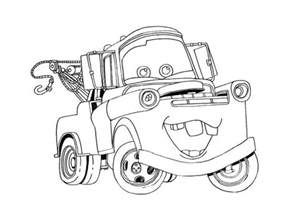 Lightning McQueen and Mater Coloring Pages