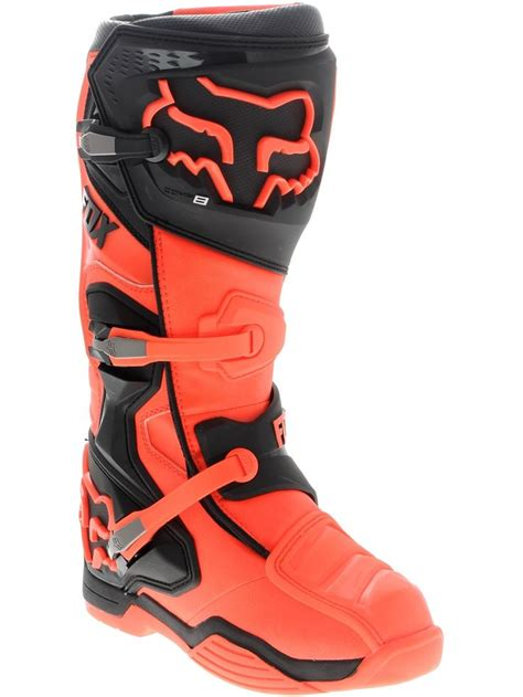 fox boots motocross fox orange comp 8 mx boot fox freestylextreme moto