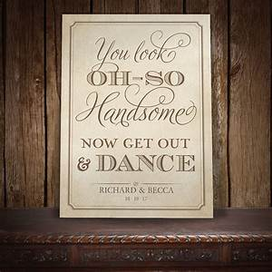 Rsvps For Weddings Vintage Elegance Get Out Dance Wedding Sign Gents