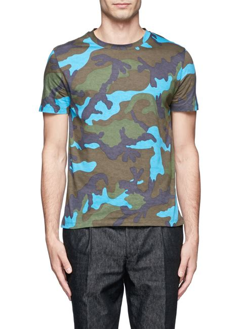 valentino t shirt lyst valentino camouflage print cotton t shirt for