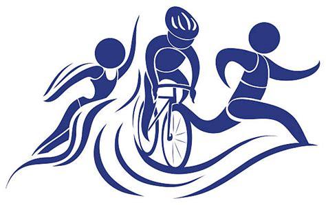Triathlon Clip Art, Vector Images & Illustrations - iStock