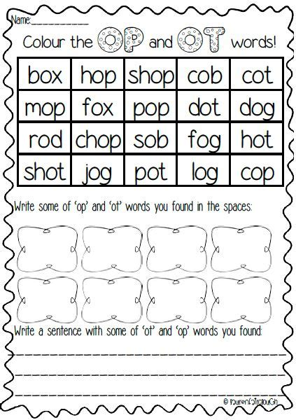 17 best images about word family literacy centre