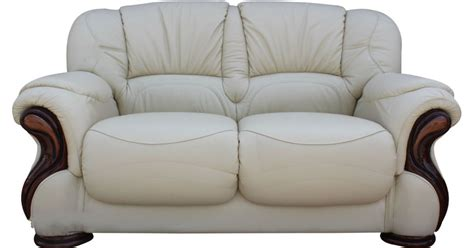 Fabric Settees And Sofas by Susanna Italian Leather 2 Seater Sofa Settee Offer