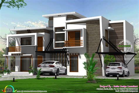 flat roof modern residence kerala home design bloglovin