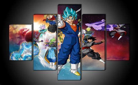 cuadros dragon ball super saga black goku  pzs
