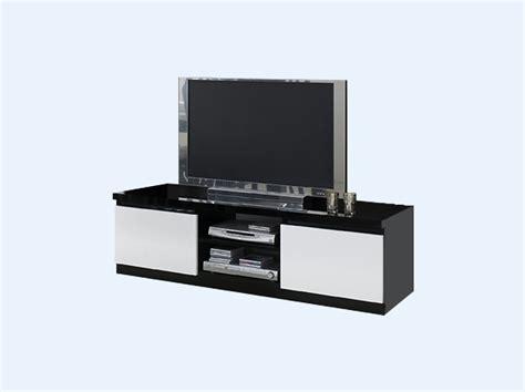 meuble tv laqu 233 noir et blanc