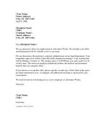 Job Offer Letter Sample Template Best Business Template