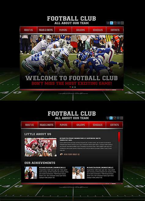 football club html template  website templates