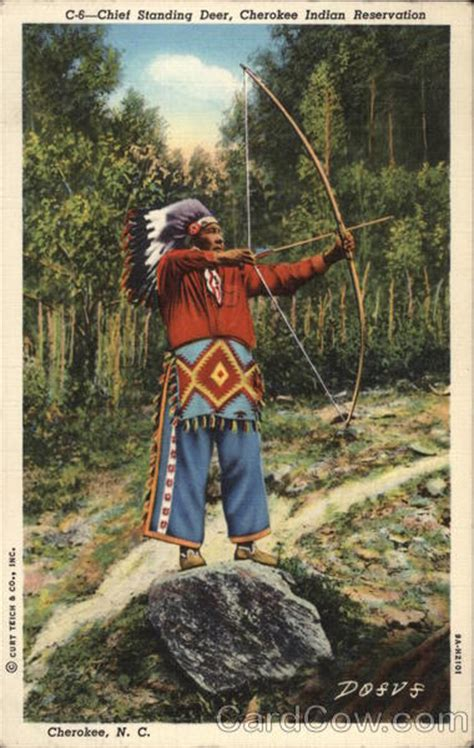 chief standing deer cherokee indian reservation north