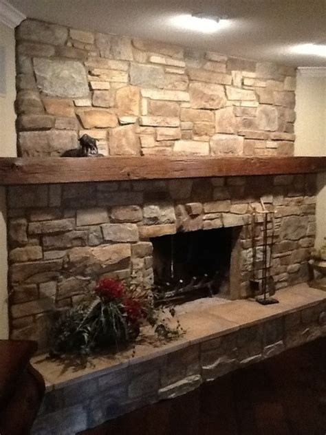 Stone Fireplace Redo   Traditional   Living Room   Dallas