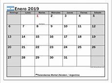 Calendario enero 2019, Argentina Michel Zbinden es
