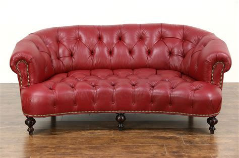 chesterfield settees second tufted nailhead leather sofa contemporary leather tufted