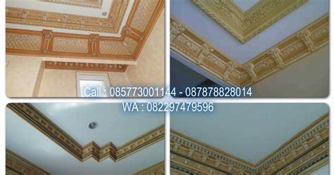 contoh cat motif wash lis plafon gypsum jasa tukang cat