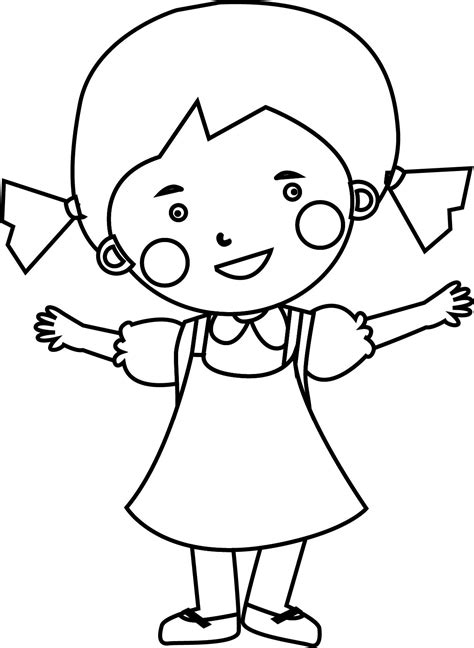 Cute Child Girl Coloring Page Wecoloringpage com