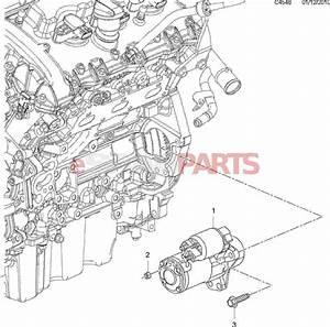 55563538  Saab Starter Motor B284 2 8t V6 9-3