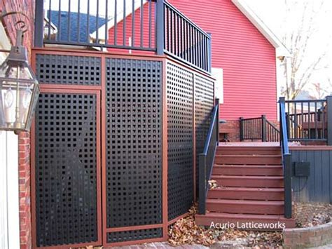 Black Vinyl Lattice Deck Skirting