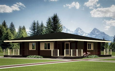 "Wooden House Plans Wooden Bungalow ""koivu"" 99 M²"