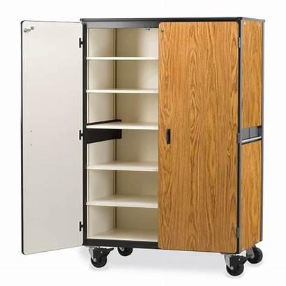 Storage Mobile Cabinet Shelves Cabinets Virco Five